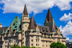 Hotel van Château Laurier van Ottawa het Oude Stock Afbeeldingen