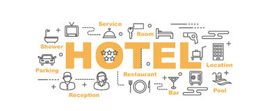 Hotel vector banner Royalty Free Stock Photo