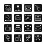 Hotel vector black icons Royalty Free Stock Images