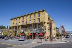 Hotel in via principale Truckee Fotografia Stock