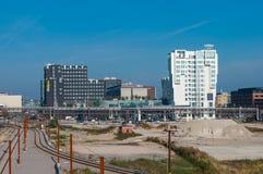 Hotel vicino alla ferrovia nel centro urbano di Copenhaghen Fotografia Stock