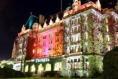 Hotel in Victoria, Columbia Britannica, Canada dell'imperatrice Immagini Stock