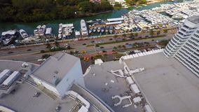 Hotel video aéreo de Miami Beach Fontainebleau almacen de video