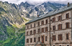 Hotel view in the mer de glace Royalty Free Stock Photography