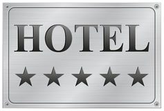 Hotel vijf sterrenuithangbord Stock Fotografie