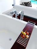 Hotel villa, semi outdoor bath tub Stock Photo