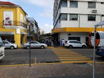 Hotel Villahermosa VAN DE BINNENSTAD stock afbeelding