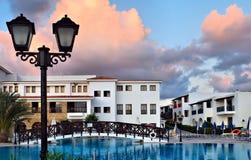 Hotel w kurorcie Obraz Royalty Free