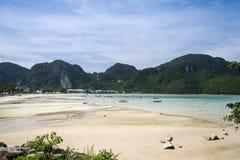 Koh phi phi wykładowcy plaża Thailand Obraz Stock