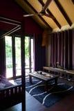 Hotel W Kurorcie wnętrze, lokalny Sarawak wystrój Obraz Royalty Free