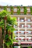 Hotel w Stresa na Maggiore jeziorze, Włochy zdjęcia stock