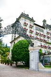 Hotel w Stresa na Maggiore jeziorze, Włochy zdjęcie royalty free
