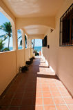 Hotel Walkway. To the beach Stock Photography