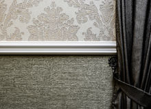 Hotel Wall Paper Ornaments Royalty Free Stock Image