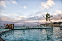 Hotel water pool in St.Maarten Netherlands stock photos