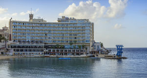 Hotel By Water Stock Photo