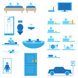 Hotel web icons  Stock Photography