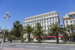 The Hotel West End and Promenade des Anglais, Nice Stock Photography