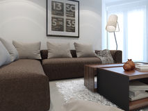 Hotel white lounge room Stock Image
