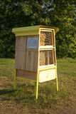 Hotel for wild pollinators natural Royalty Free Stock Image