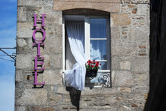 Hotel window Royalty Free Stock Photography