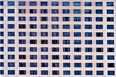 Hotel windows. Repetitive patern of windows of a modern hotel Royalty Free Stock Photo
