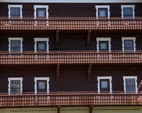 Hotel windows Royalty Free Stock Photos
