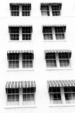 Hotel Windows. And awnings in Key West Royalty Free Stock Photos