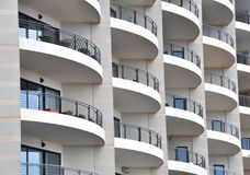 Hotel windows Stock Image
