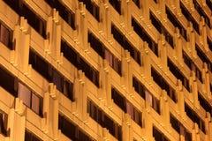 Hotel windows at night stock photography