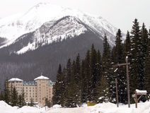 Hotel in winter. Hotel in the winter ,picture was taken in Canada Royalty Free Stock Photo