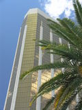 Hotel With Palm Tree Stock Photography