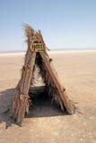 Hotel in woestijn Royalty-vrije Stock Fotografie
