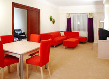 Hotel-Wohnzimmer Stockbild