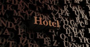 Hotel - Wooden 3D rendered letters/message Stock Photography