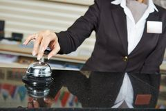 Hotel worker on reception Royalty Free Stock Photography