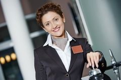 Hotel worker on reception Royalty Free Stock Photo