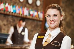 Hotel worker on reception Stock Photography