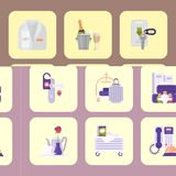Hotel workers vector personal professional service man and woman job objects hostel manager illustration. Hotel workers vector personal professional service man Royalty Free Stock Image