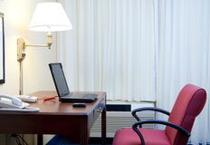 Hotel workplace Royalty Free Stock Photos