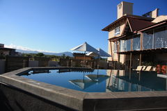 Hotel y balneario de Aanari de la piscina En Flac, Mauricio de Flic Imagenes de archivo