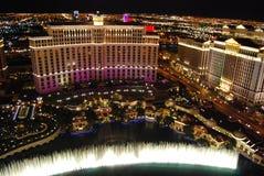 Hotel y casino, Bellagio, la tira, centro turístico y casino, zona metropolitana, característica geográfica, ciudad de Bellagio d imágenes de archivo libres de regalías