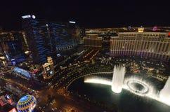 Hotel y casino, Bellagio, zona metropolitana, ciudad, noche, paisaje urbano de Bellagio imagenes de archivo