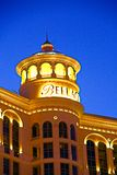 Hotel y casino de Bellagio con la cubierta superior del exterior de la corona imagenes de archivo