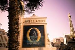 Hotel y casino de Bellagio Las Vegas imágenes de archivo libres de regalías