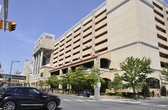 Hotel y casino de Caesars en el centro turístico de Atlantic City de New Jersey los E.E.U.U. foto de archivo libre de regalías