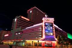 Hotel y casino de Eldorado en la noche en Reno, Nevada Foto de archivo libre de regalías