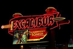 Hotel y casino de Excalibur Fotografía de archivo