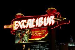 Hotel y casino de Excalibur Imágenes de archivo libres de regalías