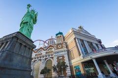 Hotel y casino de Nueva York Nueva York Imagen de archivo